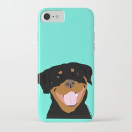Rottweiler graphic on Mint iPhone Case