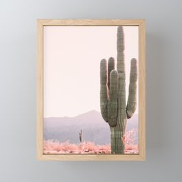 Vintage Cactus Framed Mini Art Print