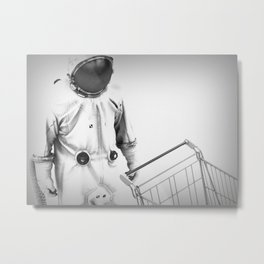At the Supermarket Metal Print