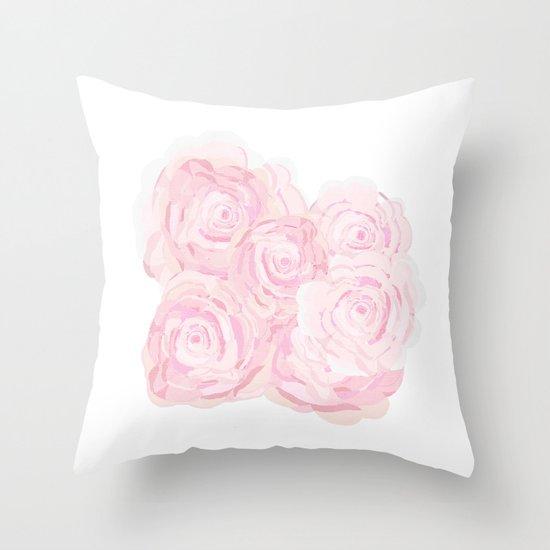 Shabby Chic Decor Pillows : Shabby Chic Roes Throw Pillow by KarenHarveyCox Society6