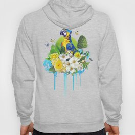 FLORAL PARROT Hoody