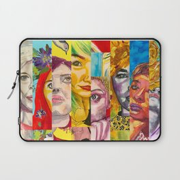 Female Faces Portrait Collage Design 1 Laptop Sleeve