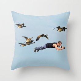 Taking Flight II Throw Pillow