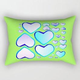Garden of  hearts Rectangular Pillow