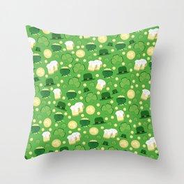 Saint Patrick's Party Throw Pillow