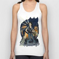 aliens Tank Tops featuring Aliens by Ginger Breo