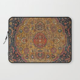 Persian Medallion Rug VI // 16th Century Distressed Red Green Blue Flowery Colorful Ornate Pattern Laptop Sleeve