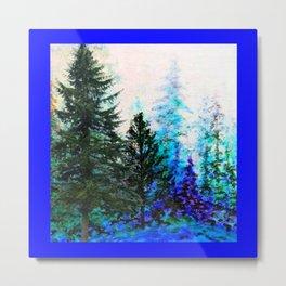 BLUE MOUNTAIN PINES LANDSCAPE Metal Print