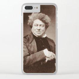 Alexandre Dumas Portrait Clear iPhone Case