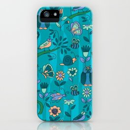 owls and insects iPhone Case