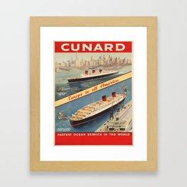 Vintage poster - Cunard Framed Art Print