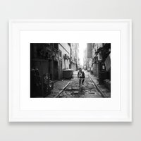 cycling Framed Art Prints featuring cycling by Gordon Chalmers