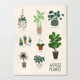 Houseplant Love Canvas Print