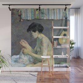 Paul Gauguin - Woman Sewing Wall Mural