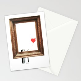 girl with balloon banksy Stationery Cards