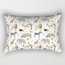 Safari Savanna Multiple Animals Rectangular Pillow
