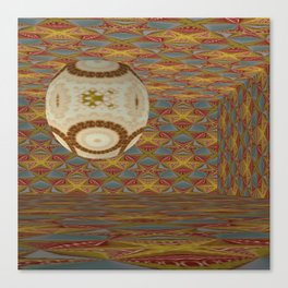 Mandalic Ball Patterned Room Canvas Print