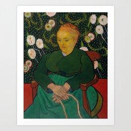 Vincent van Gogh - La Berceuse (Woman Rocking a Cradle; Augustine-Alix Pellicot Roulin, 1851–1930) Art Print
