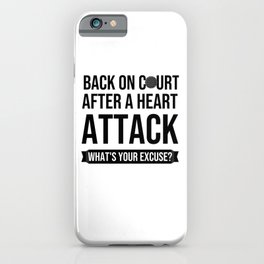 Heart Attack Recovery Golf Player Gift iPhone Case
