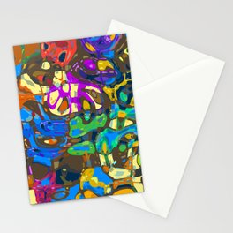 Abstract Mash Up Stationery Cards