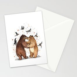 Bear Dance Stationery Cards