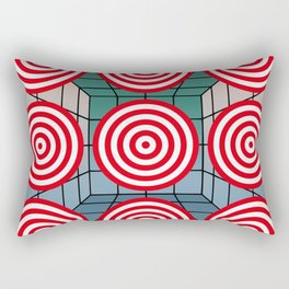 Shooting gallery with targets Rectangular Pillow