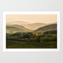 Sunny afternoon in Lake District Art Print