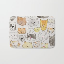 cats art print, cat lover gift Bath Mat