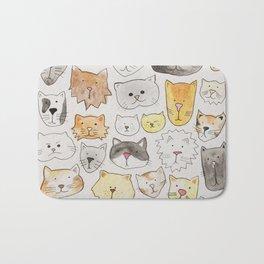 cats art print, cat lover gift Bath Mat