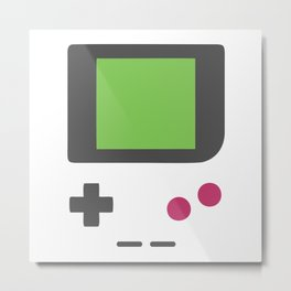 Retro Gamer: Vintage Mobile Gaming Device Metal Print