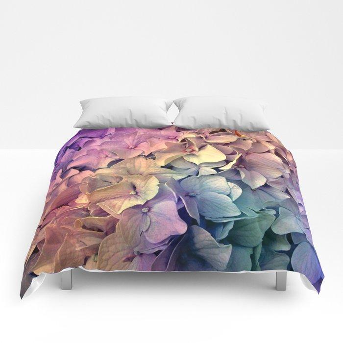 Soft Multi Color Hydrangea Comforters