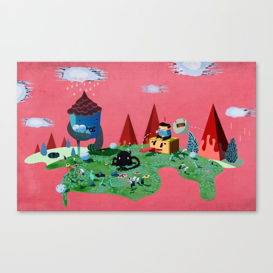 Fun World Canvas Print