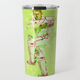 Cricket batsman test Captain Travel Mug