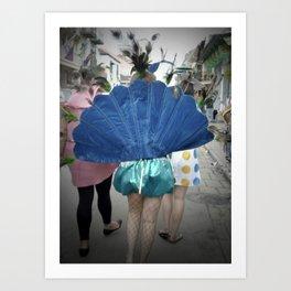 Mardi Gras Peacock, 2011.  New Orleans, LA Art Print