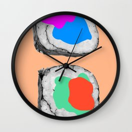 Plastered Sushi Wall Clock