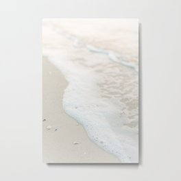 Beach Shore Bubbles Metal Print