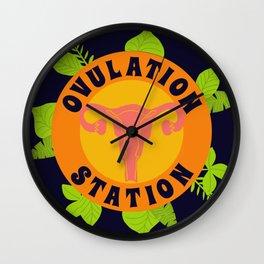 Ovulation Station Wall Clock
