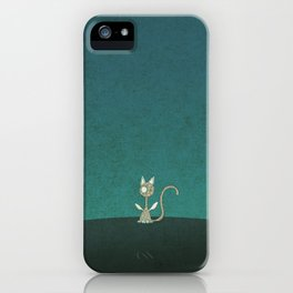 Small winged polka-dotted beige cat iPhone Case