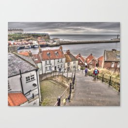 Whitby From The Steps Canvas Print