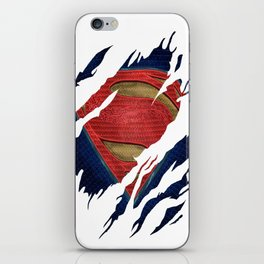 Superman BvS Ripped Symbol iPhone Skin