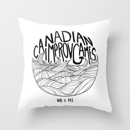 Canadian Improv Games: NB&PEI - Wave Logo Throw Pillow