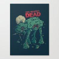 dead Canvas Prints featuring Walker's Dead by Victor Vercesi