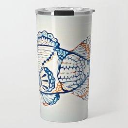 BLUE FISH Digital Painting Travel Mug