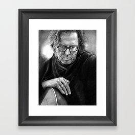 Eric Clapton PENCIL DRAWING Framed Art Print