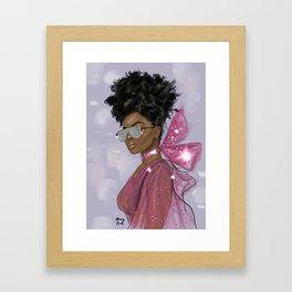 girl, sparkle Framed Art Print