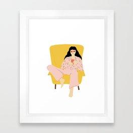 Pyjama Sunday Framed Art Print
