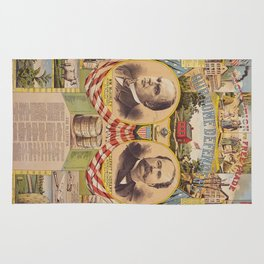 Mc. Kinley and Hobart Presidential Elections Vintage Poster 1896 Rug