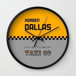 Korben Dallas Taxi Co Wall Clock