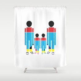 Familly Shower Curtain