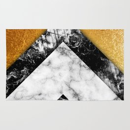 Golden foil and marble Rug